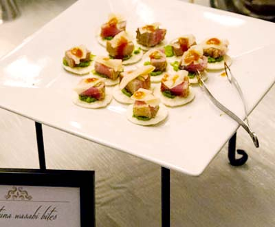 Image of food from the Perrill Holiday Party