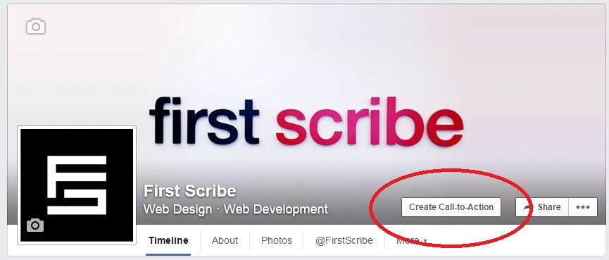 first scribe call to action button 2