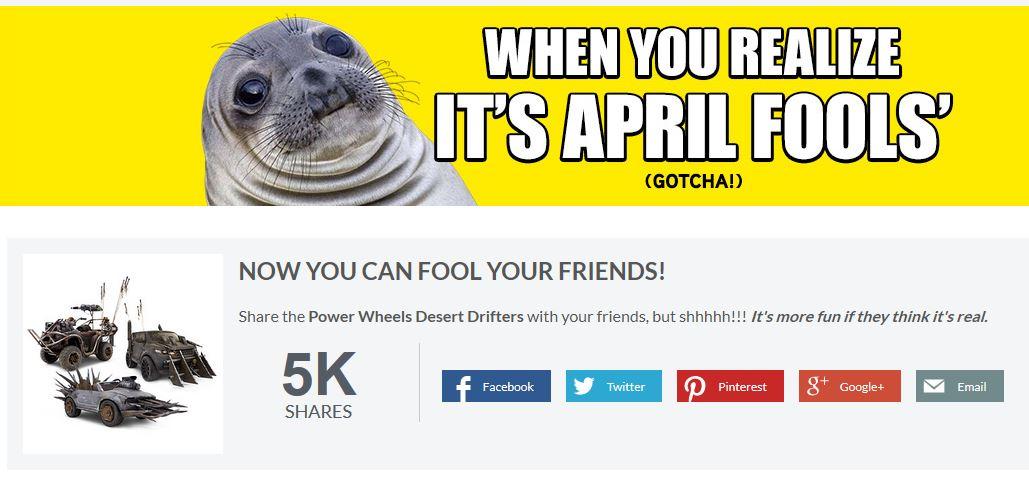 think geek april fools