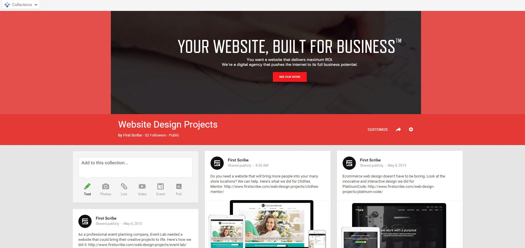 collections web design