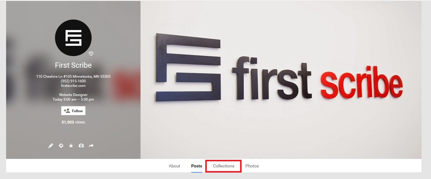 google plus collections tab