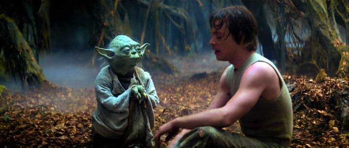 luke and yoda using the force
