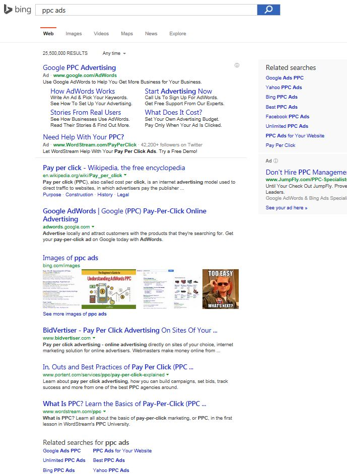 bing ppc ads search
