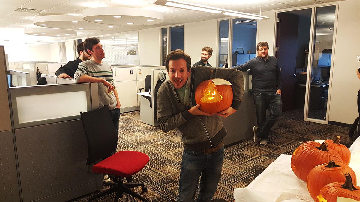 poo emoji pumpkin