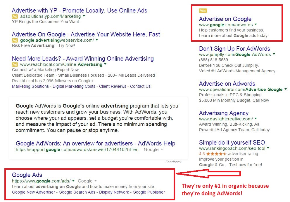 google adwords superstition