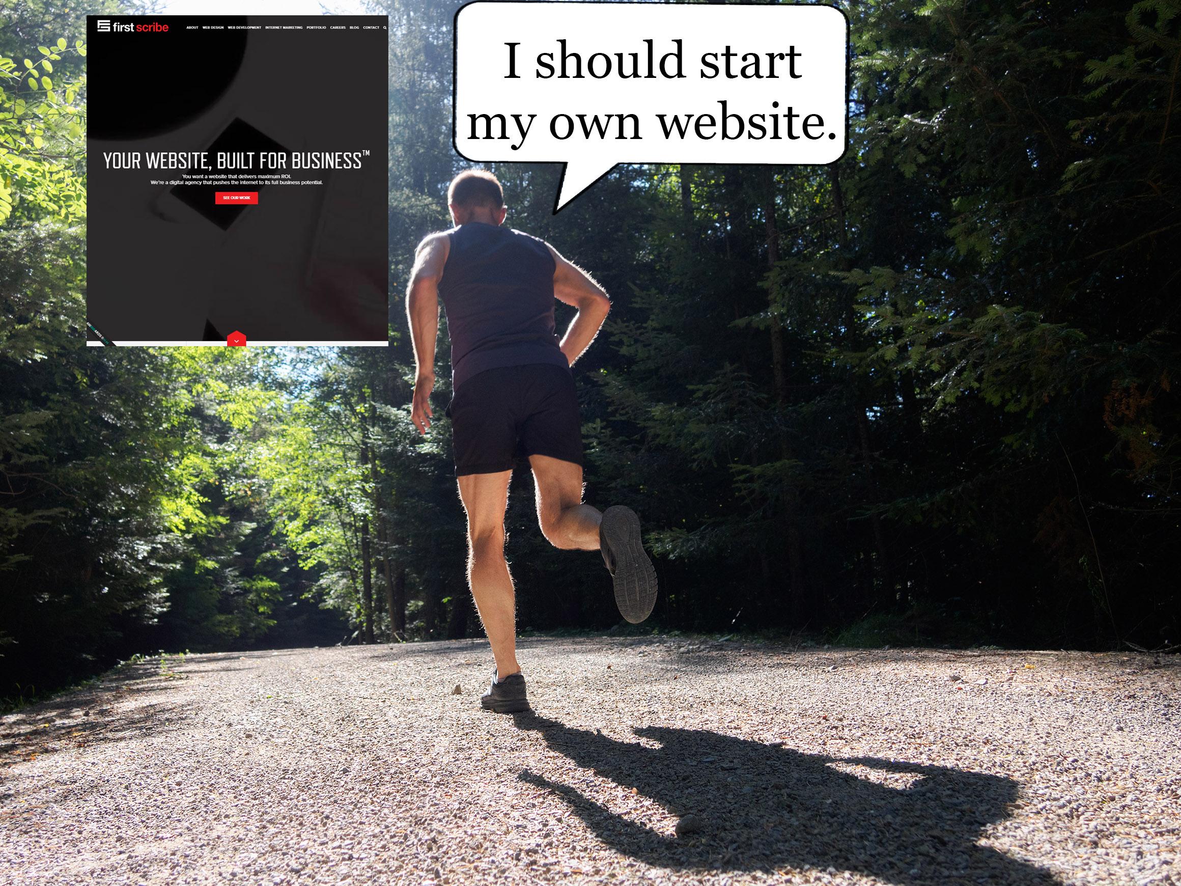 offline website first scribe