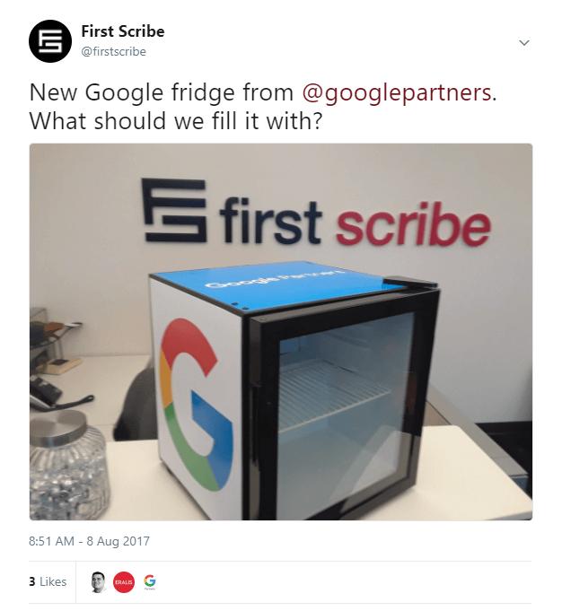 google fridge