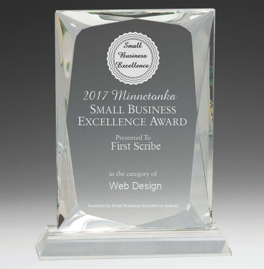 web design small business excellence award