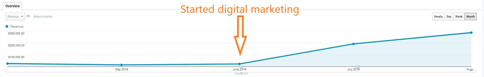 started digital marketing results