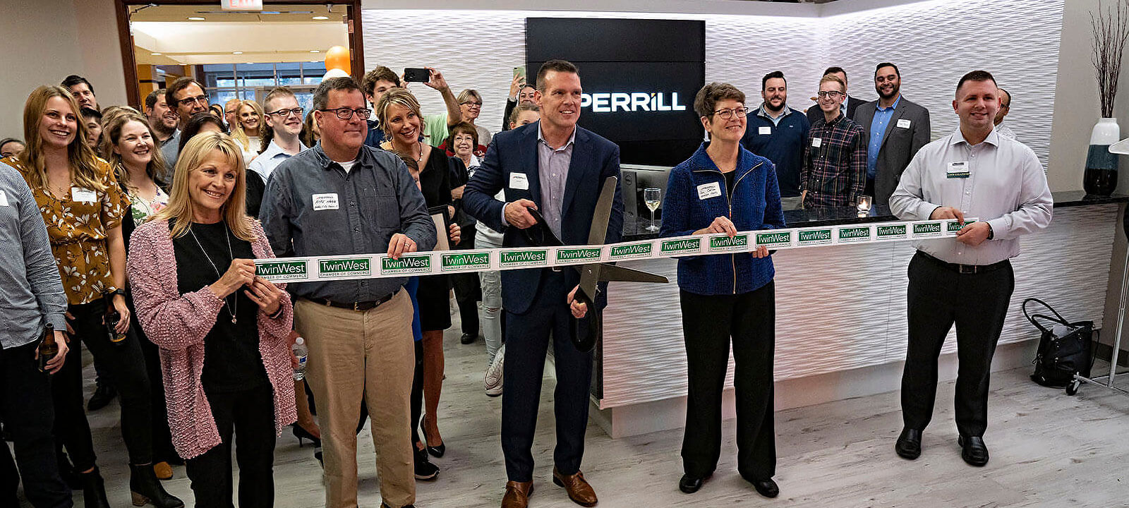 perrill ribbon cutting