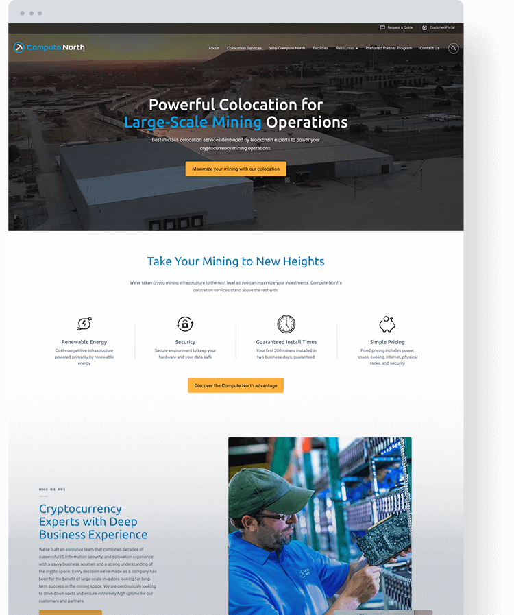 Compute North Homepage Design