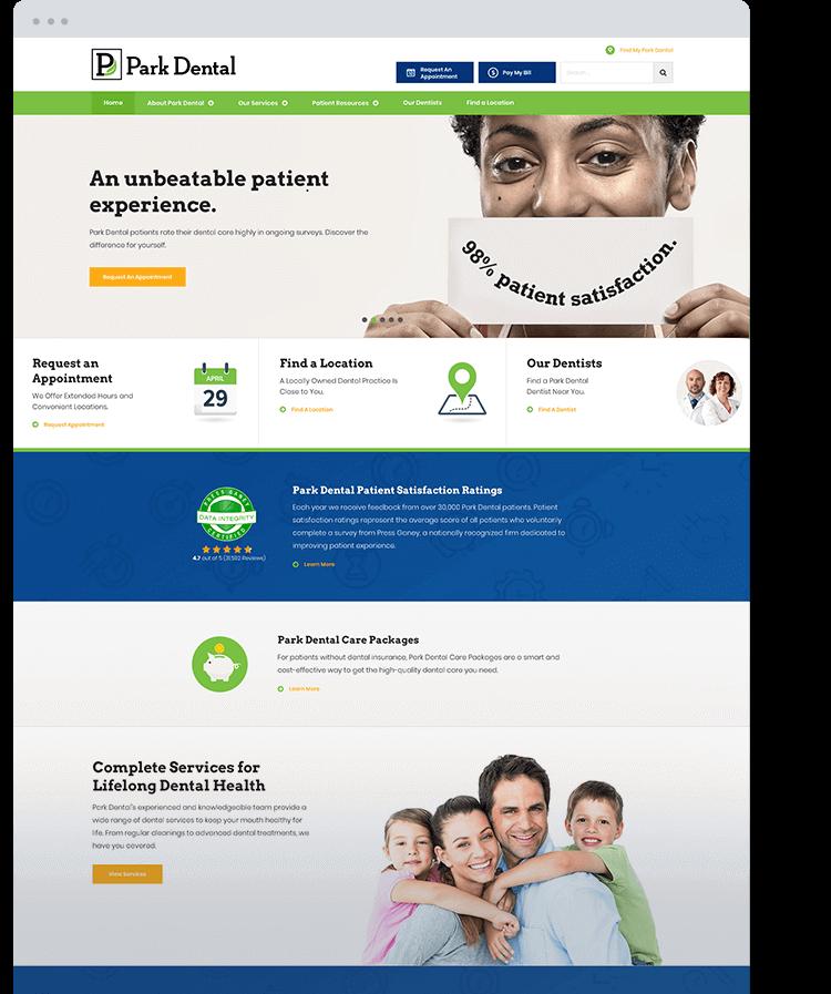Park Dental Homepage