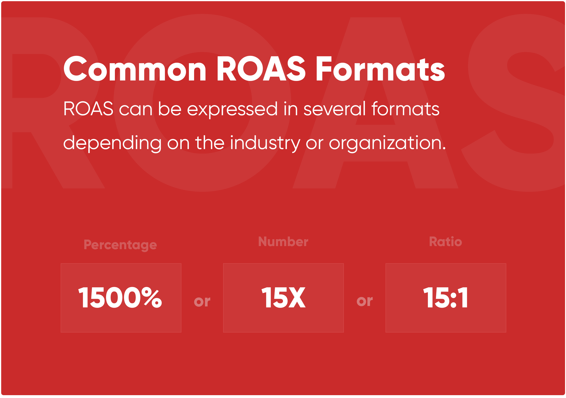 Common ROAS Formats