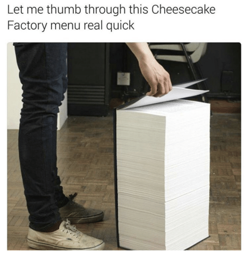 Cheesecake Factory Menu CMS